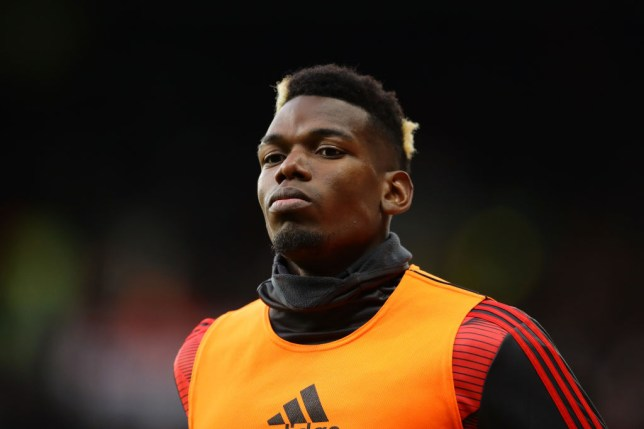 WATFORD, ENGLAND - DECEMBER 22: Paul Pogba of Manchester United warms up during the Premier League match between Watford FC and Manchester United at Vicarage Road on December 22, 2019 in Watford, United Kingdom. (Photo by Richard Heathcote/Getty Images)
