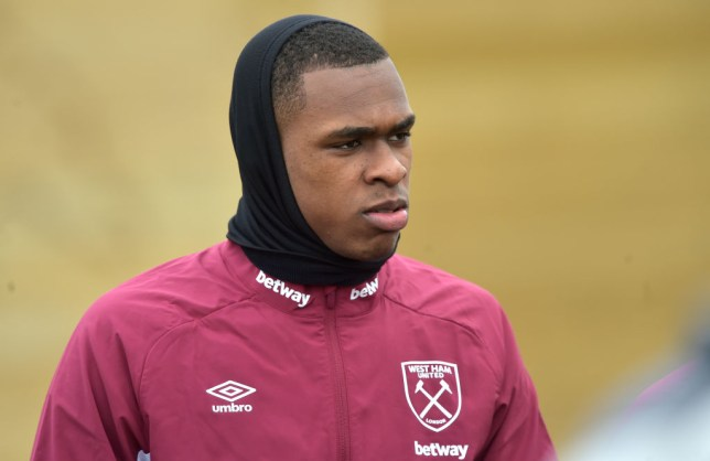 Arsenal and Manchester United transfer target Issa Diop during West Ham training