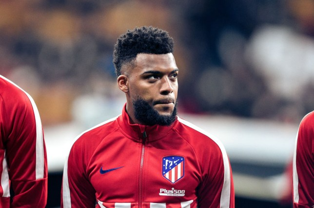 Atletico Madrid midfielder Thomas Lemar pictured before a game