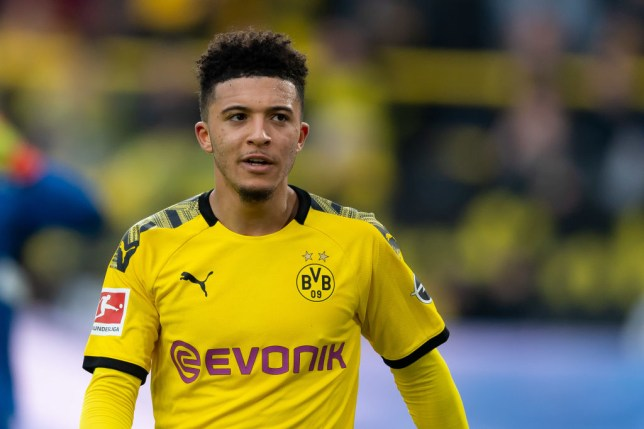 Manchester United and Chelsea transfer target Jadon Sancho of Borussia Dortmund looks on during the Bundesliga match against Freiburg
