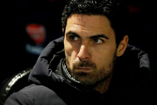 Mikel Arteta is pictured before an Arsenal game