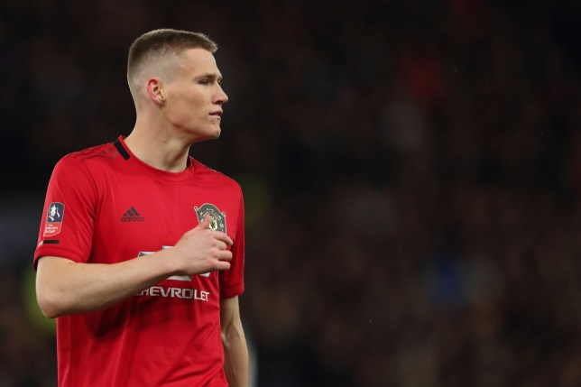 Scott McTominay during Manchester United's FA Cup win over Derby County