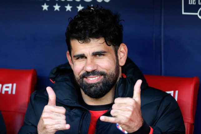MADRID, SPAIN - MARCH 07: (BILD ZEITUNG OUT) Diego Costa of Atletico de Madrid smiles prior to the Liga match between Club Atletico de Madrid and Sevilla FC at Wanda Metropolitano on March 7, 2020 in Madrid, Spain. (Photo by DeFodi Images via Getty Images)