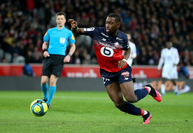 Boubakary Soumare tries to control the ball during a Lille game