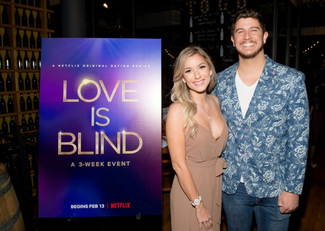 ATLANTA, GEORGIA - FEBRUARY 27: Amber Pike and Matt Barnett attends Netflix's Love is Blind VIP viewing party at City Winery on February 27, 2020 in Atlanta, Georgia. (Photo by Marcus Ingram/Getty Images for Netflix)