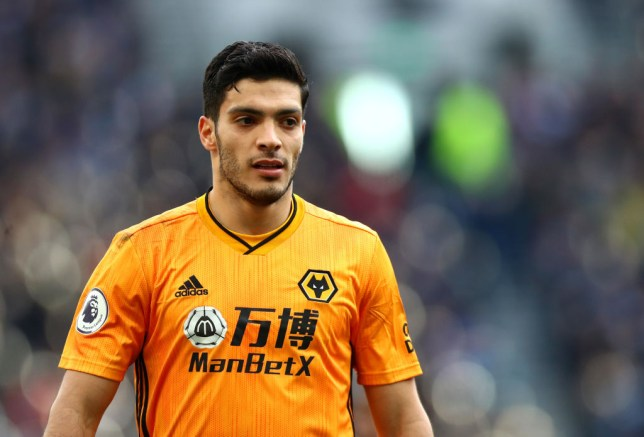 Manchester United and Arsenal transfer target Raul Jimenez during Wolves' Premier League clash with Tottenham