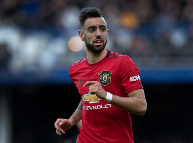 Bruno Fernandes during Manchester United's Premier League clash with Everton
