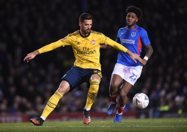 Pablo Mari impressed on his Arsenal debut against Portsmouth in the FA Cup