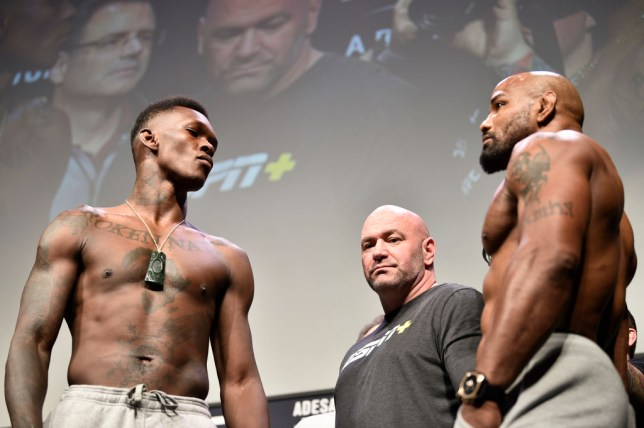 Israel Adesanya faces off with UFC rival Yoel Romero