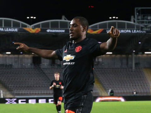 Man Utd players rush to pitch-side monitor to watch replay of Odion Ighalo's wondergoal