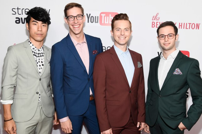 Eugene Lee Yang, Keith Habersberger, Ned Fulmer, and Zach Kornfeld of The Try Guys