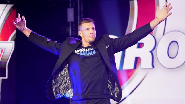 Former New England Patriots and Super Bowl winner Rob Gronkowski makes his WWE SmackDown debut