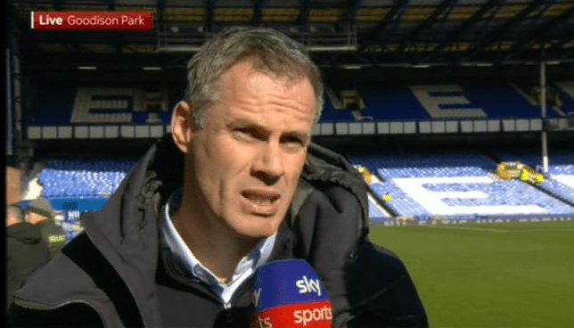 Jamie Carragher reacts to Liverpool defeat to Watford