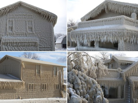 People trapped in frozen homes after blizzard turns them into igloos
