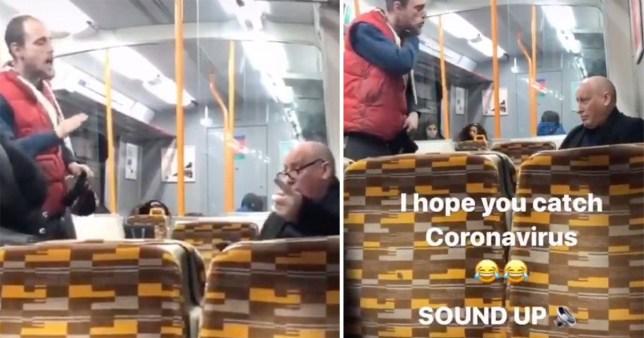 Coronavirus train fight