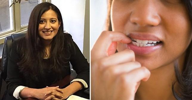biting nails coronavirus