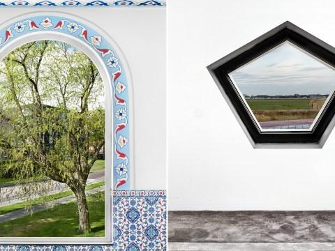 Take a look through mosque windows in stunning photos