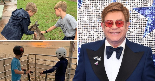 Elton John and his sons