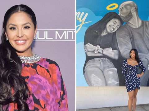 Vanessa Bryant's daughter Natalia poses with Kobe and Gigi mural at winter formal