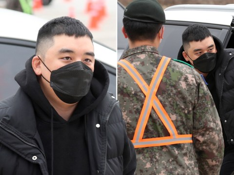 Seungri dodges questions as he enlists in the military