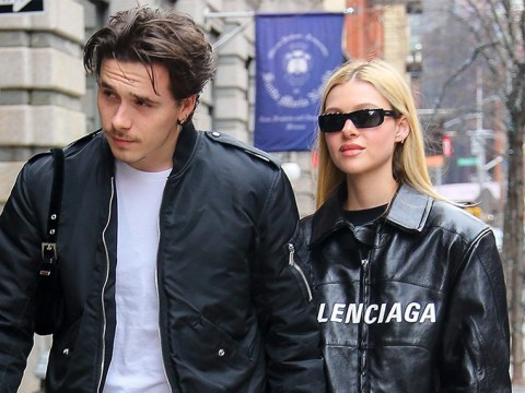 Brooklyn Beckham and girlfriend Nicola Peltz are inseparable as they match outfits on romantic stroll