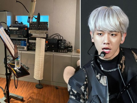 EXO star Baekhyun is back in the studio and we're not ready