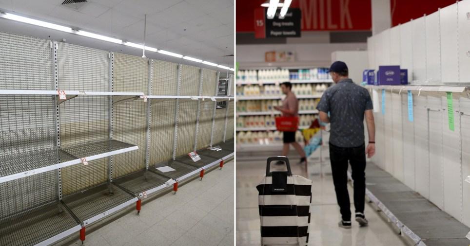 Empty shelves in Australia