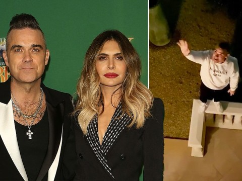 Robbie Williams and Ayda Field put Romeo and Juliet spin on 'social distancing'