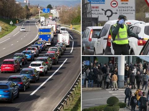 Huge queues at borders as Brits stuck abroad amid coronavirus outbreak