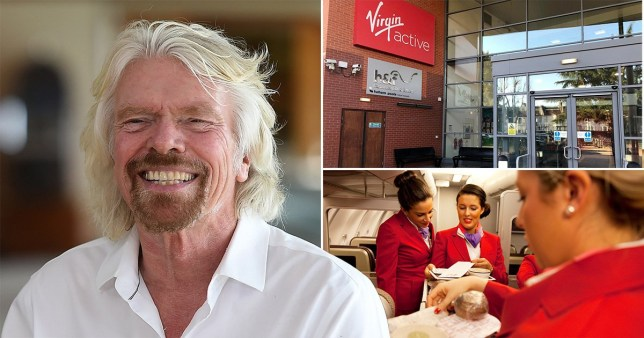 Composite of Richard Branson and Virgin staff