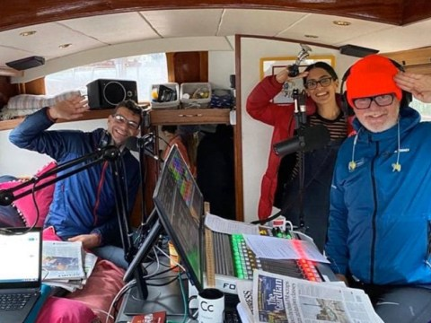Chris Evans doing his radio show from a boat is the ultimate self-isolating power move