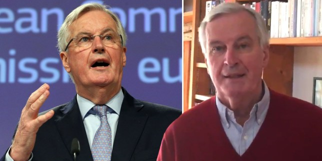The EU's chief Brexit negotiator tweeted that he was doing well and following instructions