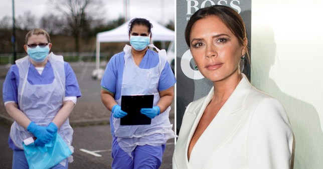 Victoria Beckham and NHS workers
