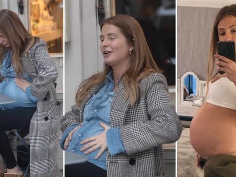 Pregnant Millie Mackintosh breaks from coronavirus quarantine to grab fresh air and breakfast