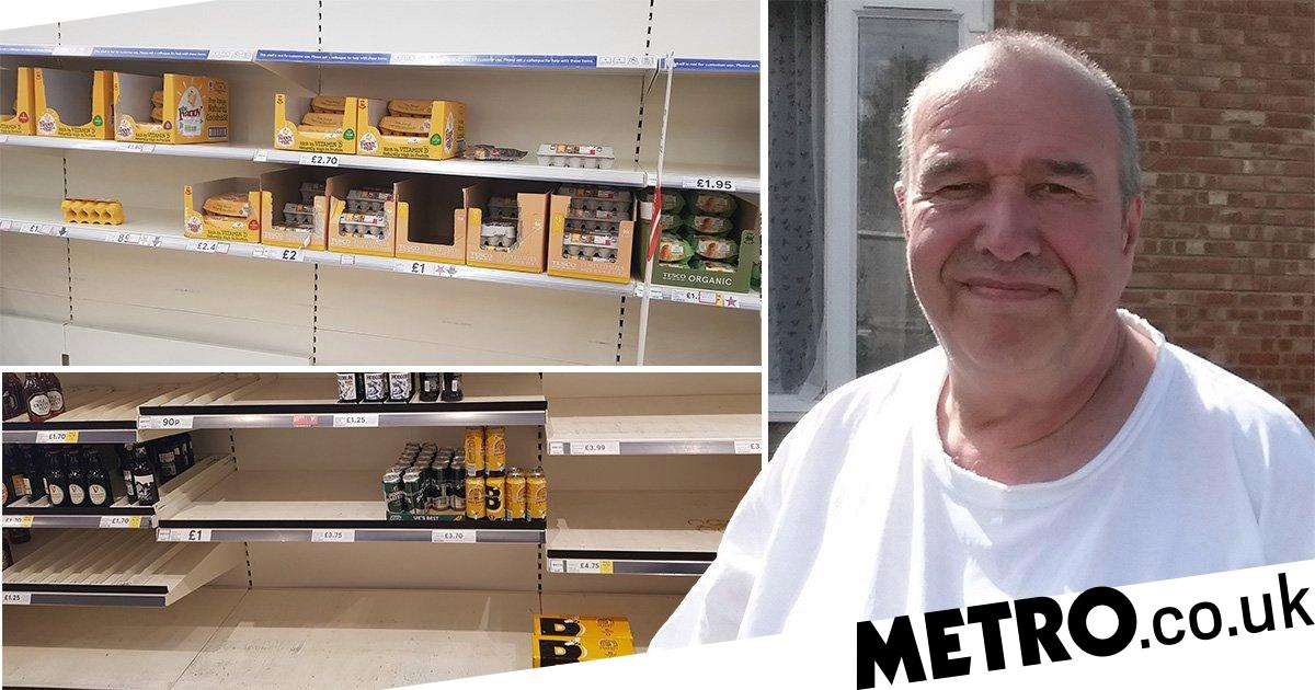 Shopper claims he's 'banned from Tesco' after taking pictures of empty shelves