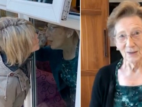 Ruth Langsford kisses mum through glass on Mother's Day amid coronavirus no-contact advice