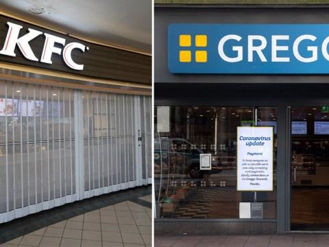 Greggs and KFC announce they're closing because of coronavirus