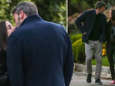 Ben Affleck passionately kisses girlfriend Ana de Armas as they break from quarantine