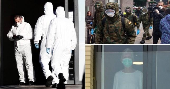 Bodies left in Spanish nursing homes