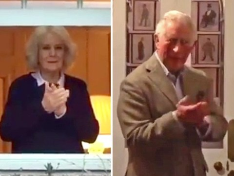 Prince Charles seen for first time since coronavirus diagnosis clapping NHS staff