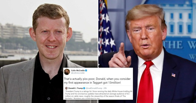 Colin McCredie and Donald Trump
