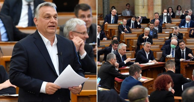 Viktor Orban has gained new powers after a vote today