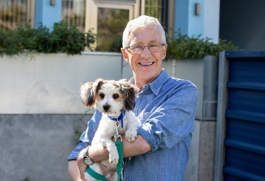 This image is strictly embargoed from publication until 00.01 Tuesday 10th December 2019 From Olga Productions PAUL OGRADY'S FOR THE LOVE OF DOGS AT CHRISTMAS Thursday 26th December 2019 on ITV Pictured: Paul O'Grady with Sprout Paul O'Grady returns once again to Battersea Dogs and Cats in a one-hour special of 'For The Love of Dogs at Christmas'. This year Paul?s enlisted to help dogs with behavioural problems. There?s a reclusive mongrel called Misty who refuses to leave her kennel, a grumpy Yorkshire terrier called Teddy who refuses to walk and an American bull-dog who?s lost her mojo after years enjoying pub life. He also helps an over- protective staffie mum who finds it hard to say goodbye to her pups, an Akita called Berry who refuses to believe her owners have left her and there?s one year old stray ?Sprout?, the happiest little dog at Battersea who?s so excitable he can?t help having accidents. On top of all this Paul?s back with the street vet team to bring festive joy to London?s homeless and their dogs. Paul has a very busy Christmas ahead! (C) Battersea Cats and Dogs Home For further information please contact Peter Gray 0207 157 3046 peter.gray@itv.com This photograph is ? Battersea Cats and Dogs Home and can only be reproduced for editorial purposes directly in connection with the programme PAUL OGRADY'S FOR THE LOVE OF DOGS AT CHRISTMAS or ITV. Once made available by the ITV Picture Desk, this photograph can be reproduced once only up until the Transmission date and no reproduction fee will be charged. Any subsequent usage may incur a fee. This photograph must not be syndicated to any other publication or website, or permanently archived, without the express written permission of ITV Picture Desk. Full Terms and conditions are available on the website https://www.itv.com/presscentre/itvpictures/terms