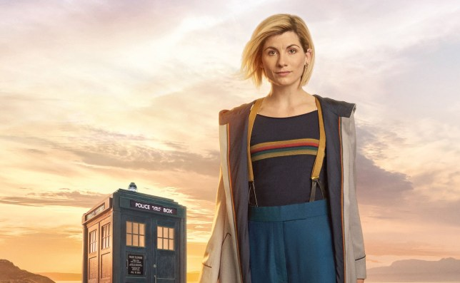 For use in UK, Ireland or Benelux countries only Undated BBC handout photo of Jodie Whittaker in full costume as Doctor Who. PRESS ASSOCIATION Photo. Issue date: Thursday November 9, 2017. It shows her in blue cropped trousers with yellow braces, a long trench coat and brown boots, with the famous Tardis in the background. See PA story SHOWBIZ Doctor. Photo credit should read: Steve Schofield/BBC/PA Wire NOTE TO EDITORS: Not for use more than 21 days after issue. You may use this picture without charge only for the purpose of publicising or reporting on current BBC programming, personnel or other BBC output or activity within 21 days of issue. Any use after that time MUST be cleared through BBC Picture Publicity. Please credit the image to the BBC and any named photographer or independent programme maker, as described in the caption.