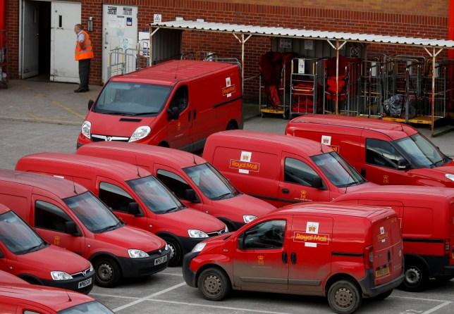 Royal Mail vans parked