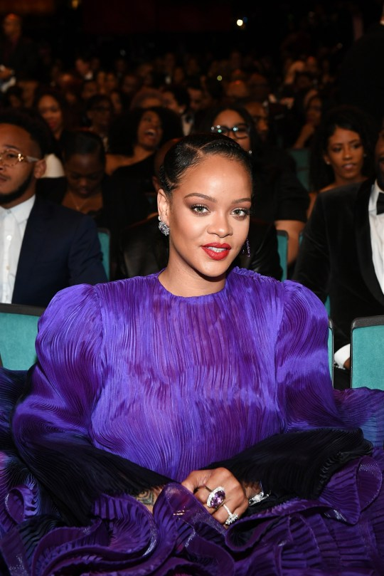 PASADENA, CALIFORNIA - FEBRUARY 22: Rihanna attends the 51st NAACP Image Awards, Presented by BET, at Pasadena Civic Auditorium on February 22, 2020 in Pasadena, California. (Photo by Paras Griffin/Getty Images for BET)