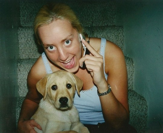 Alicia Tschirhart with her original dog Marley. See SWNS story SWNYziggy. A family paid a whopping $50,000 to CLONE their heroic dog who saved its pregnant owner from a rattlesnake. David and Alicia Tschirhart decided to genetically duplicate their beloved Labrador retriever Marley after the pooch passed away just months after saving Alicia from a venomous snake. The couple preserved Marley?s DNA but waited five years to clone the hound as they wanted their children Madeleine, five, and Colette, three, to be old enough to appreciate a dog. The family, of San Diego, California, welcomed Ziggy, now four months, in December, and were astonished by how similar the canine was to the original Marley.