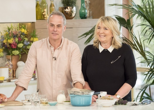 Editorial use only Mandatory Credit: Photo by Ken McKay/ITV/REX (8610359dq) Phil Vickery and Fern Britton 'This Morning' TV show, London, UK - 13 Apr 2017 FERN BRITTON: BACK ON THE SOFA FOR THE FIRST TIME IN 8 YEARS! Eight years since she left us, Fern Britton is back! For the first time since 2009, she?ll be reacquainting herself with the This Morning sofa as she joins us to chat about her new ITV show, ?Culinary Genius?. After famously fronting ?Ready, Steady, Cook?, Fern is back in the kitchen alongside a host of well-known chefs - including her husband Phil Vickery - to put some budding cooks through their paces.
