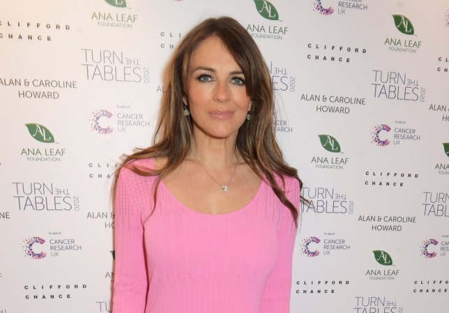 LONDON, ENGLAND - MARCH 02: Elizabeth Hurley attends Turn The Tables 2020 hosted by Tania Bryer and James Landale in aid of Cancer Research UK at Fortnum & Mason on March 2, 2020 in London, England. (Photo by David M. Benett/Dave Benett/Getty Images)