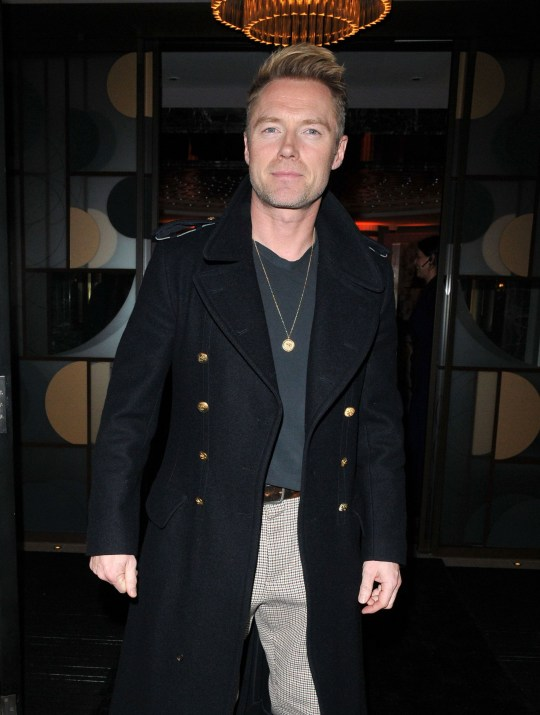 Mandatory Credit: Photo by Can Nguyen/REX (10486410ax) Ronan Keating The Biltmore Hotel launch party, London, UK - 26 Nov 2019